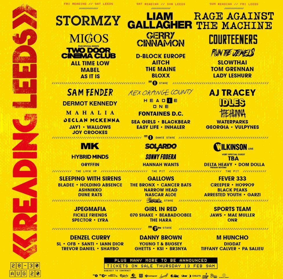 The Reading and Leeds 2020 line-up
