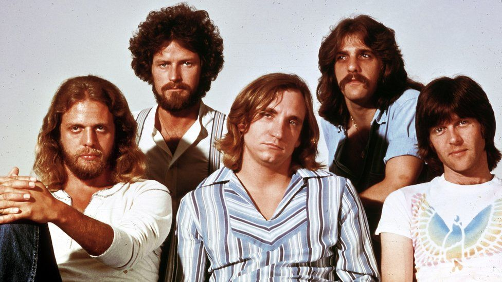 American rock band the Eagles pictured in the early 1970s