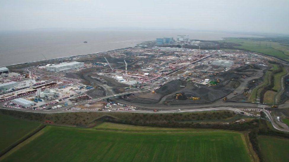 The building site of Hinkley Point C