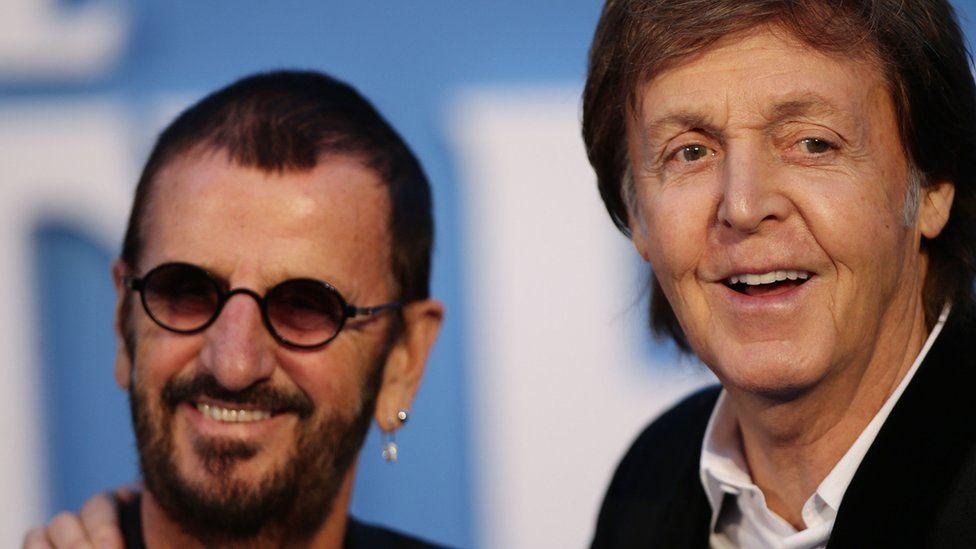 Sir Ringo Starr and Sir Paul McCartney