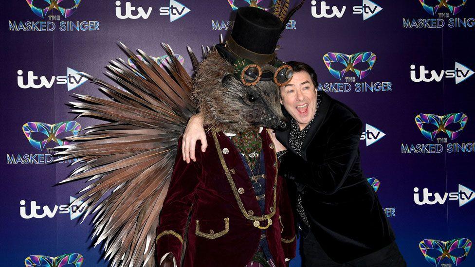 Jonathan Ross with 'Hedgehog'