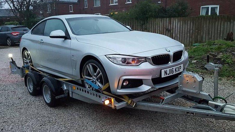Stolen BMW