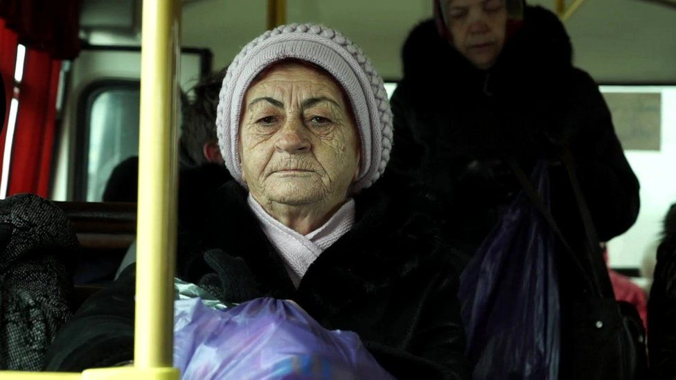 Women on bus in Irkutsk