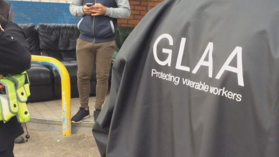 Officer's jacket with GLAA written on the back
