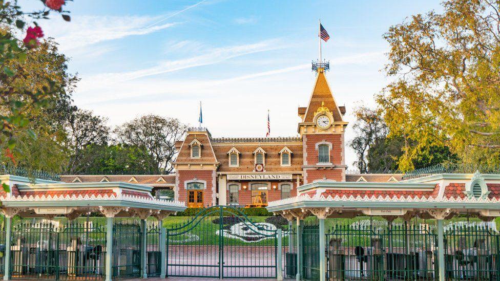 Gates of Disneyland in Anaheim