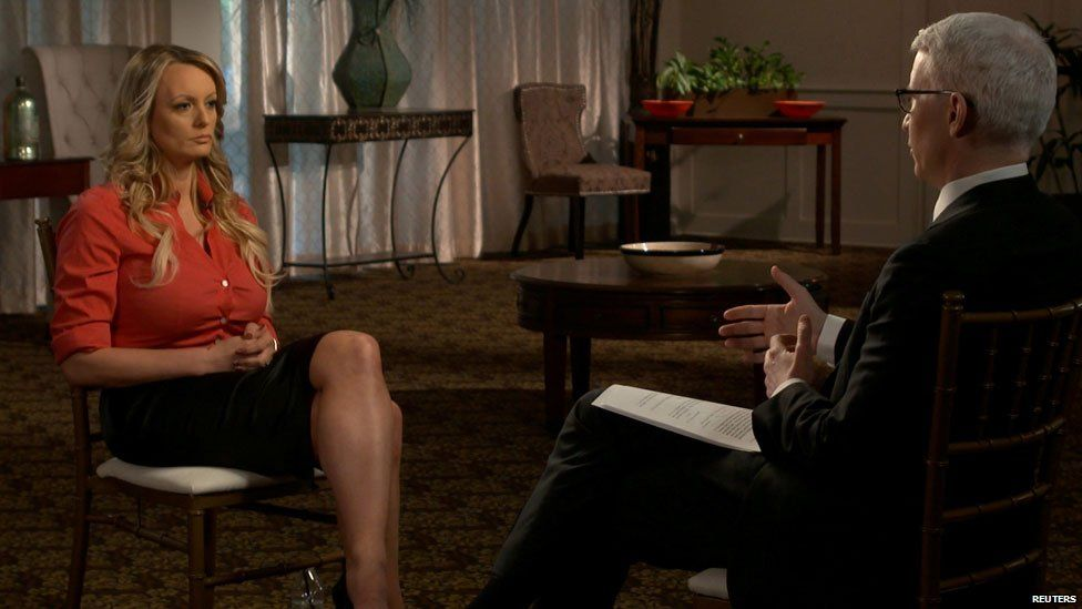 Stormy Daniels was interviewed by Anderson Cooper