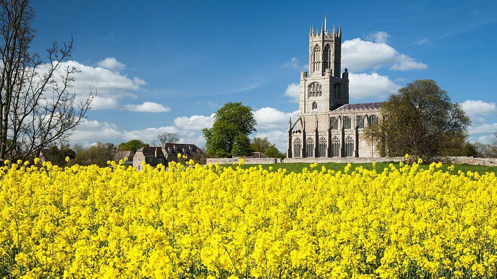 The Church of St Mary and All Saints in Fotheringhay