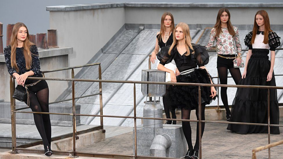 Models walk the runway during the Chanel Womenswear Spring/Summer 2020 show as part of Paris Fashion Week
