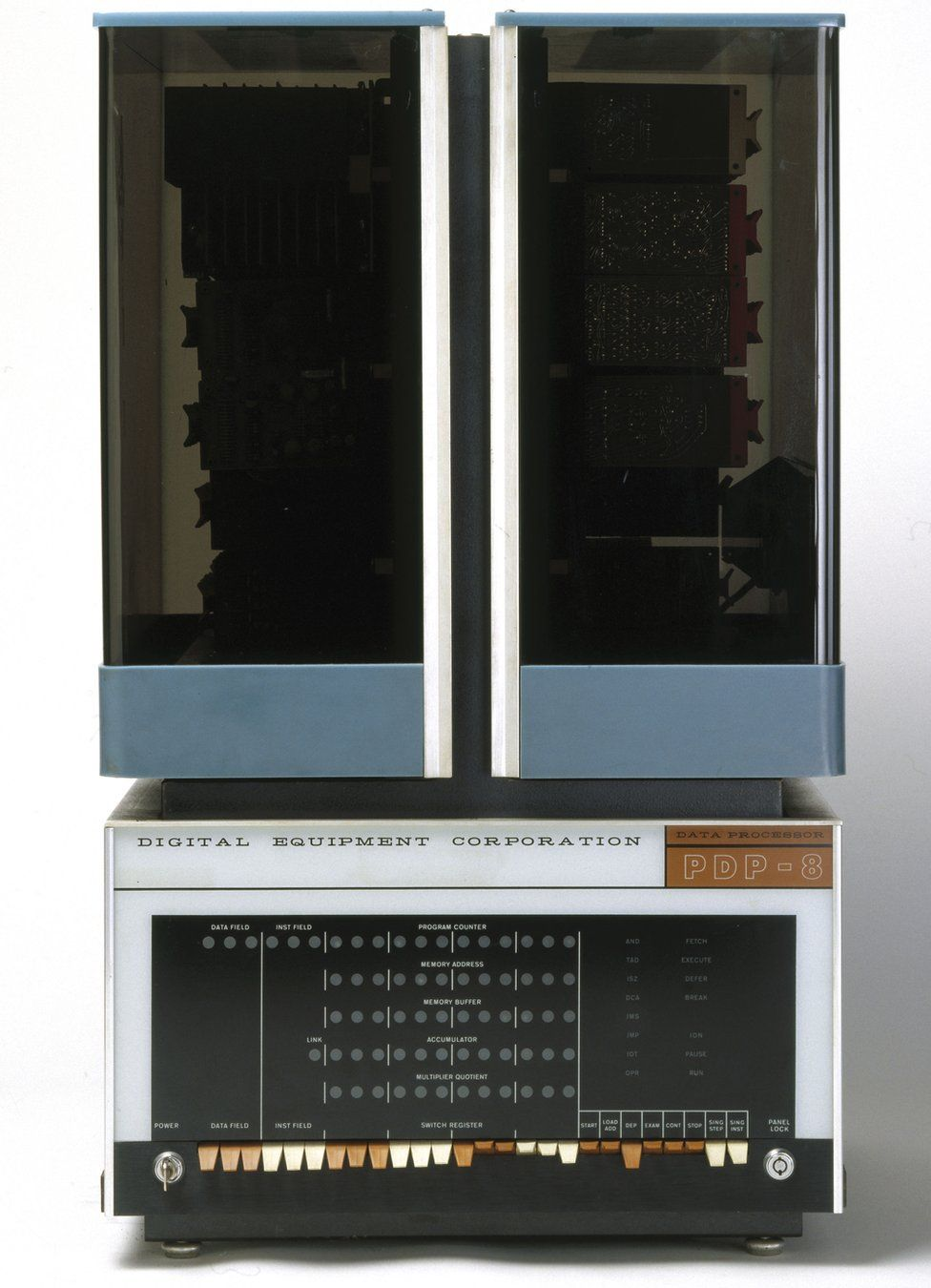 The PDP-8, the first minicomputer, made by DEC