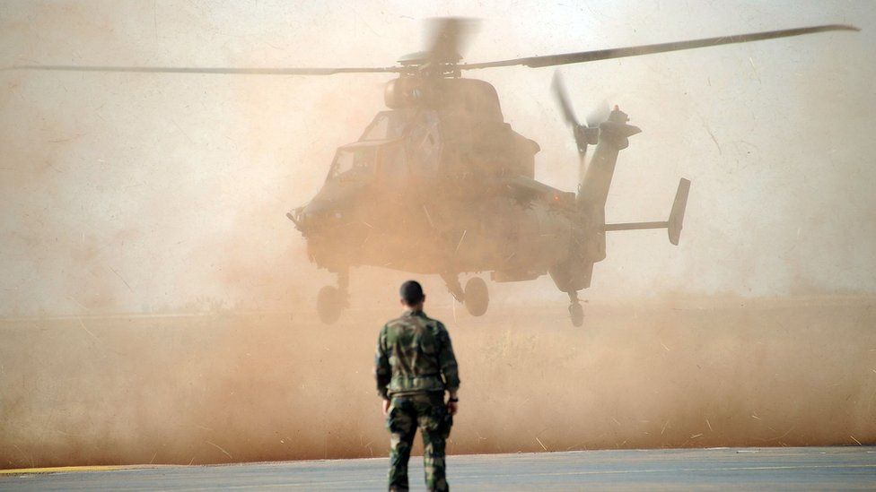 A French Tiger helicopter in Mali, 2013