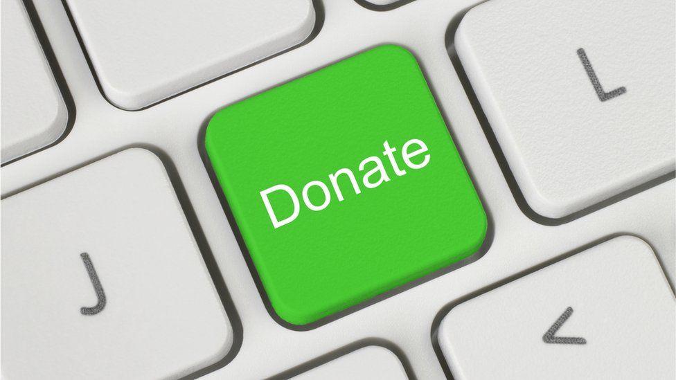 Donation on keyboard