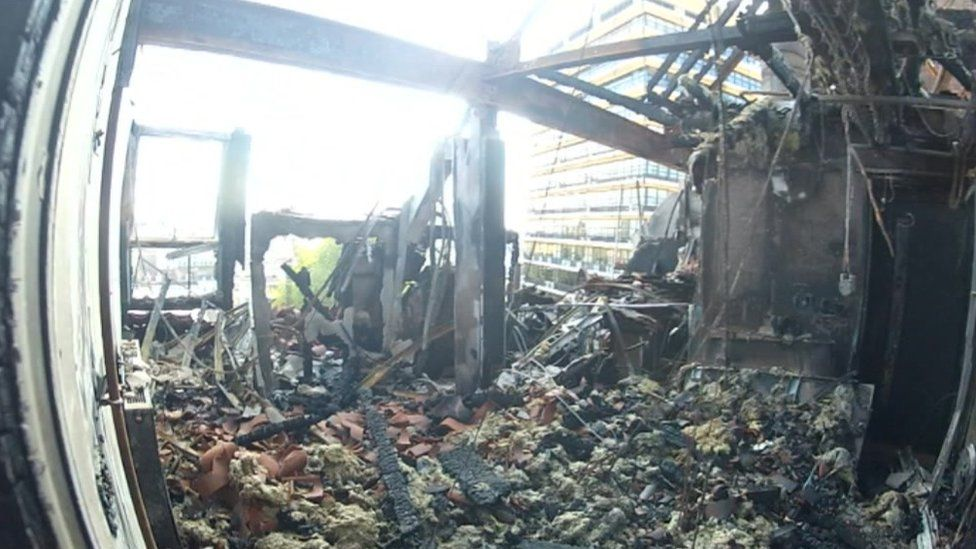 Colston Street flats fire damage