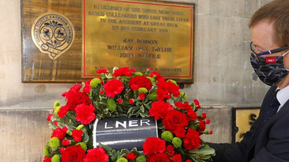 Great Heck memorial event at Newcastle station