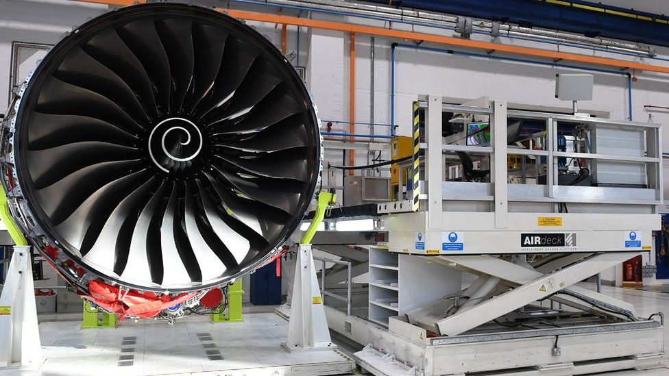 Rolls Royce Trent XWB engine in Derby