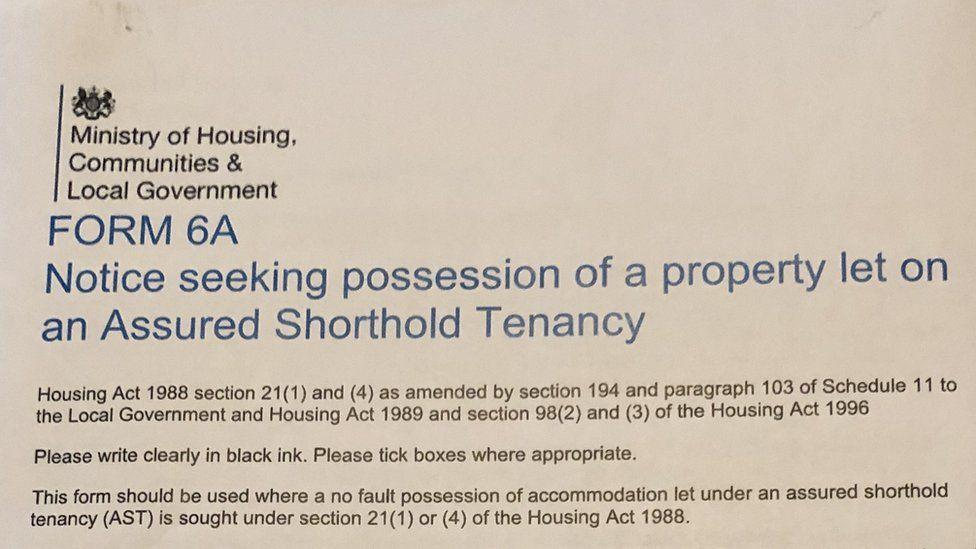 Becky Palmer section 21 eviction notice