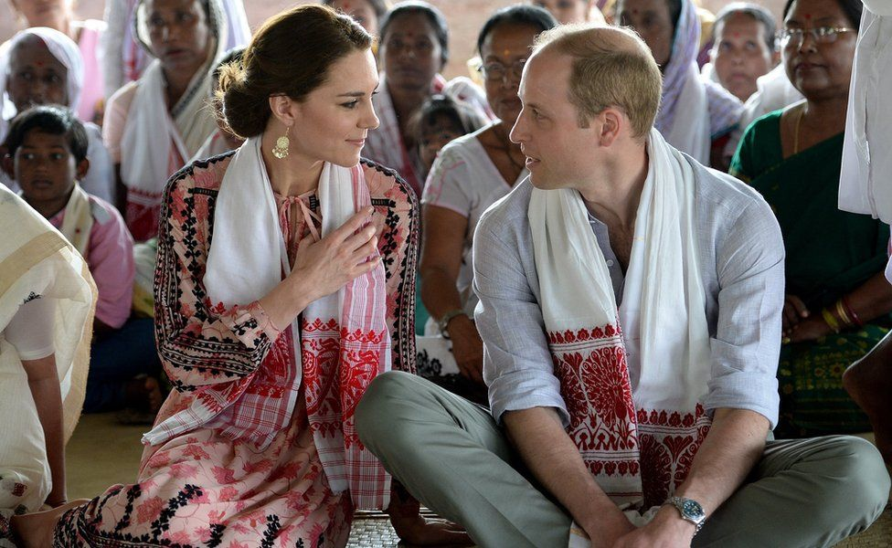 Duke and Duchess of Cambridge, in India
