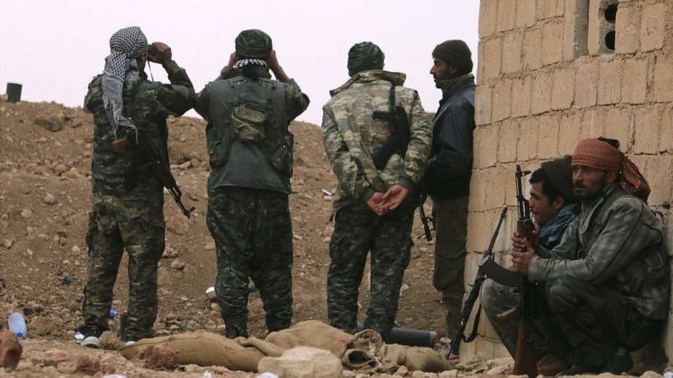 YPG fighters in northern Syria (file photo)