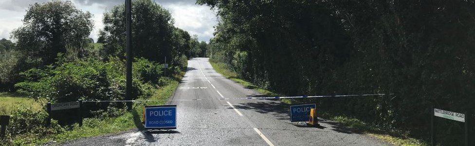 Scene of bomb attack in County Fermanagh