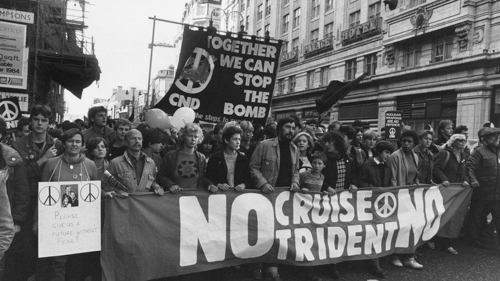 Anti-nuclear demo in the 1980s