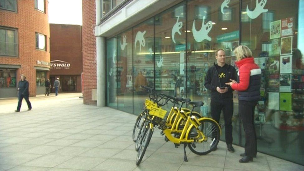 Ofo bikes in Norwich