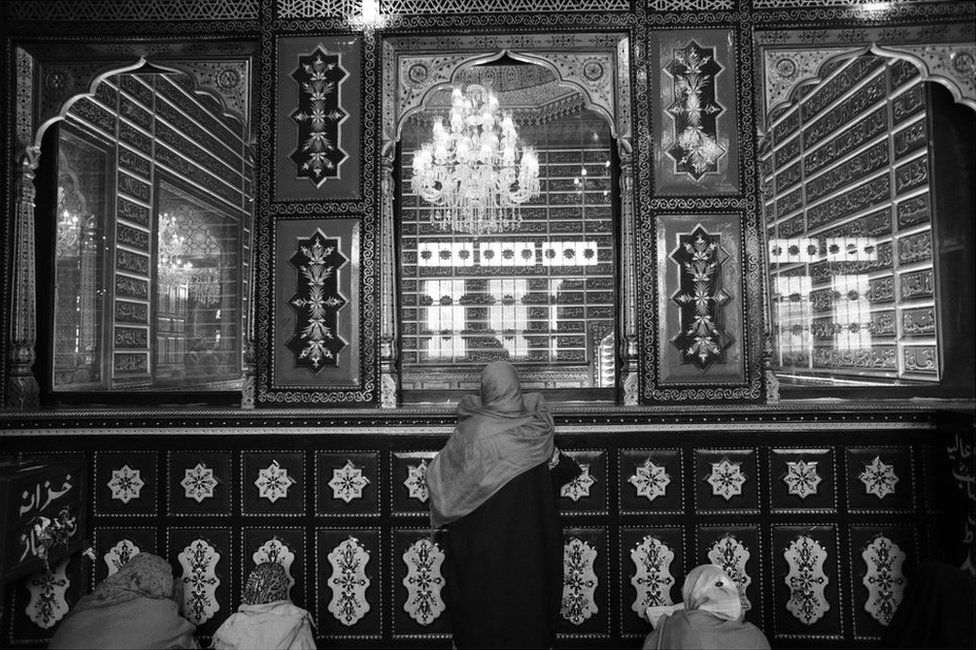 Bakhti Begam is a regular at Khanqah-e-Moula in Srinagar.