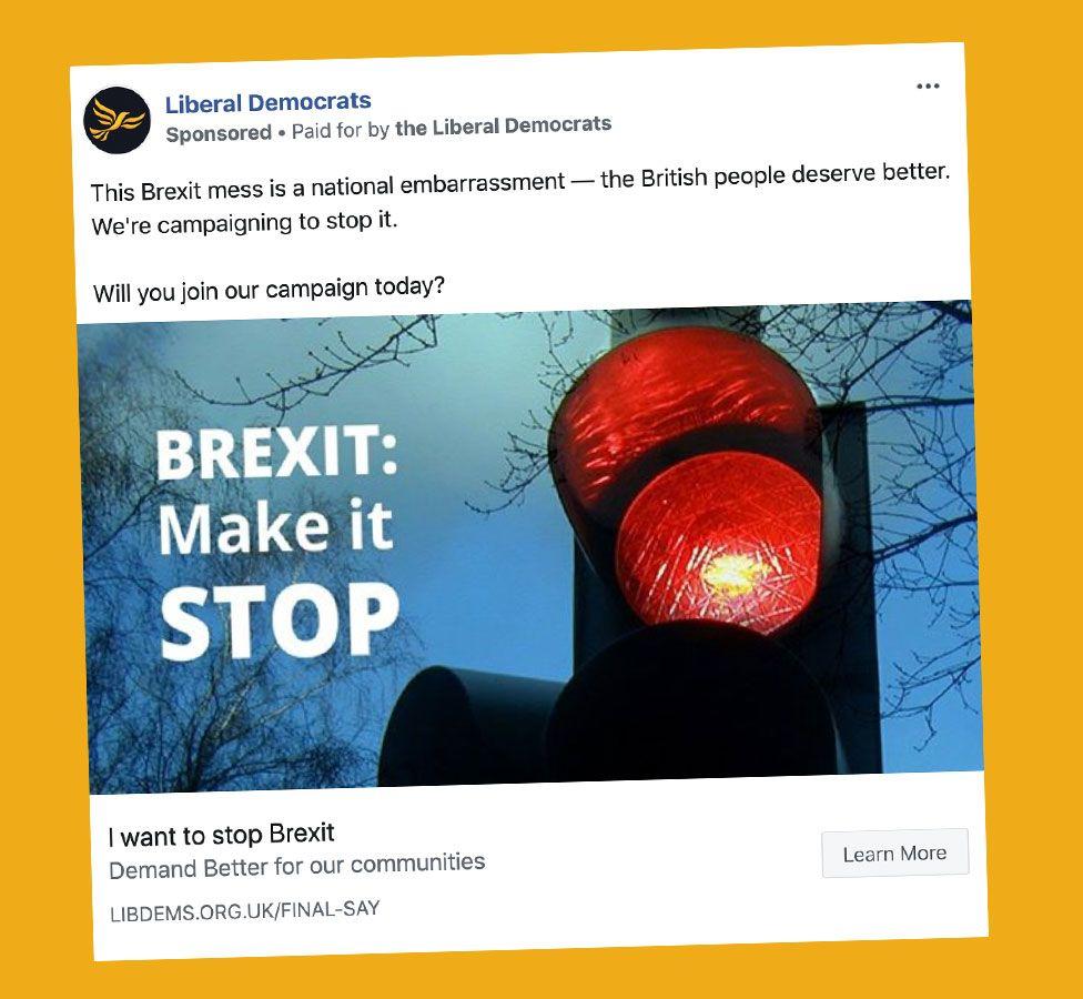 Lib Dems advert on Brexit