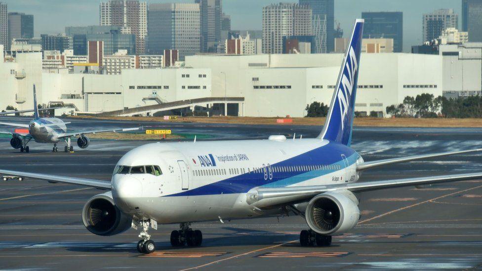 Japanese aircraft at Tokyo airport