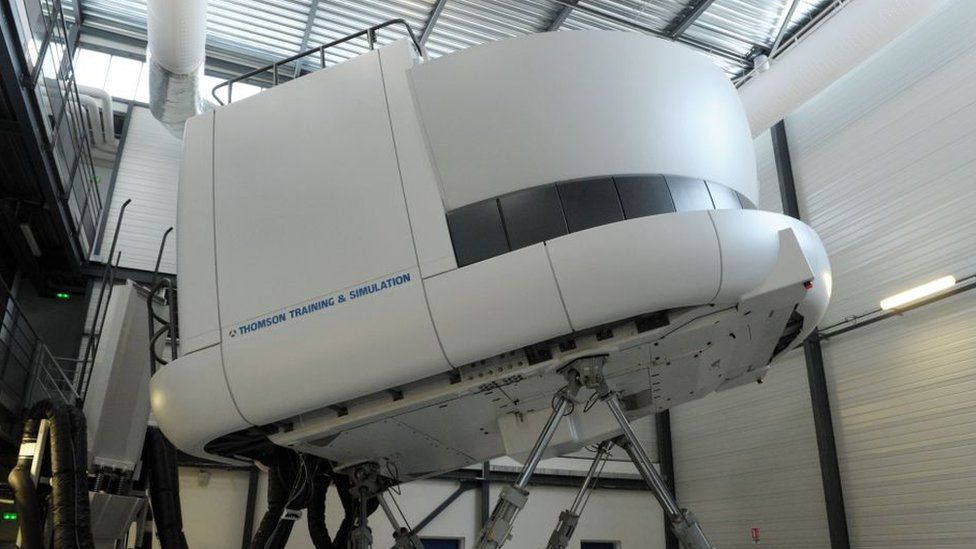 A flight simulator in France