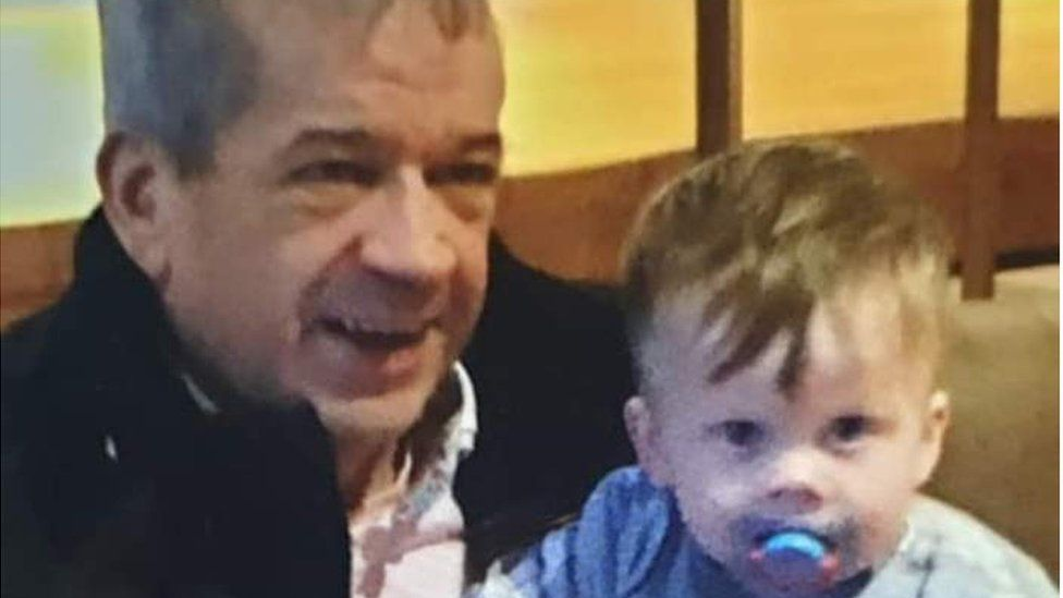 Ray Cullen pictured with grandson Jace