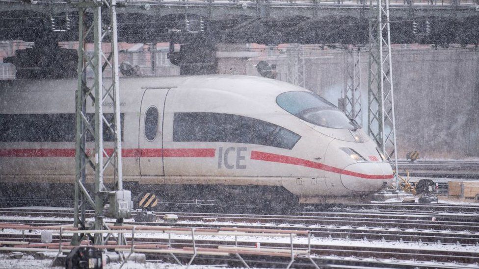 An Inter City Express train in Bavaria