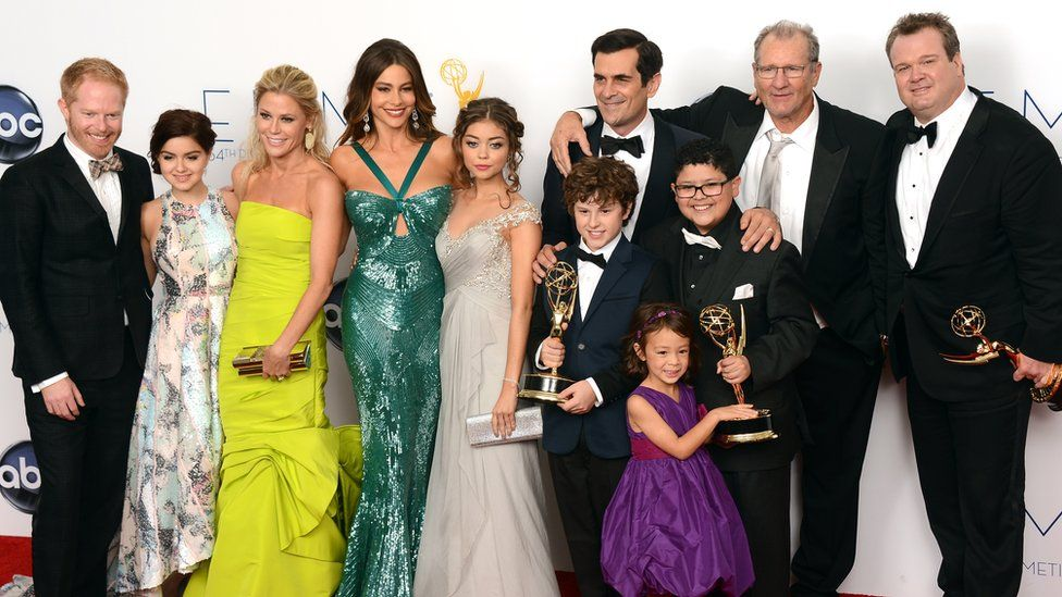Cast of Modern Family at the Emmy Awards in 2012