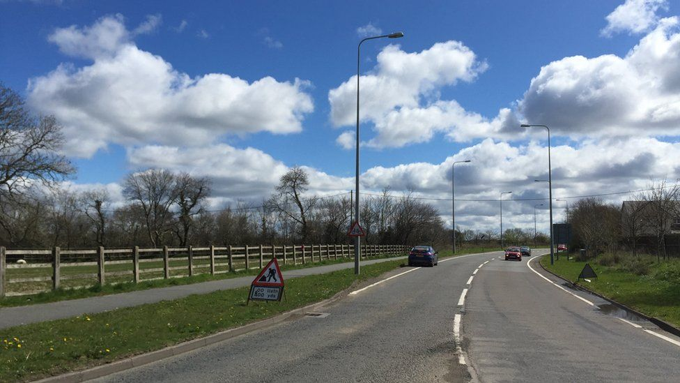 Withybush Road where the new school is proposed