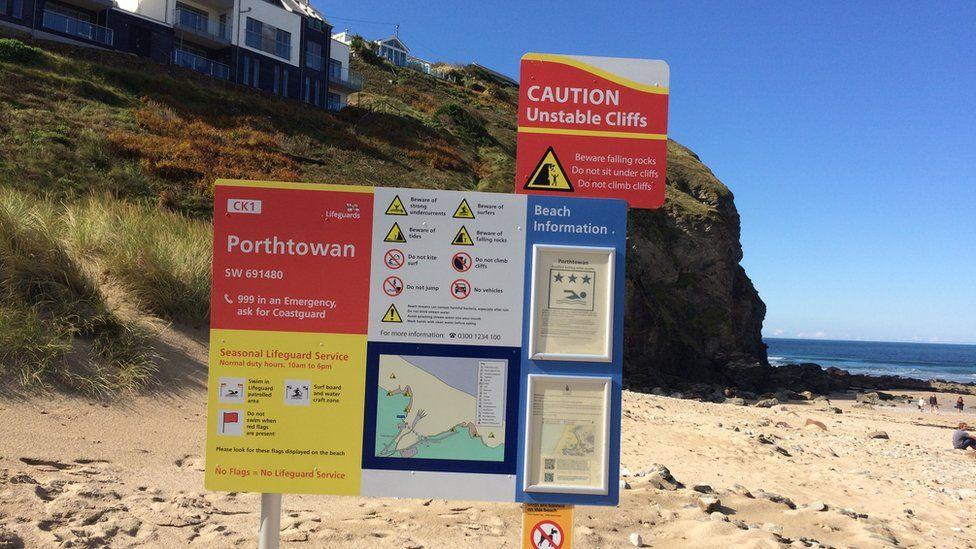 Porthtowan warning signs