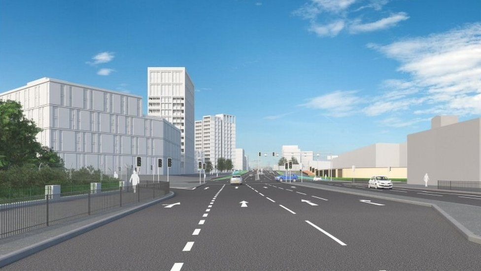 Proposed view of the A34