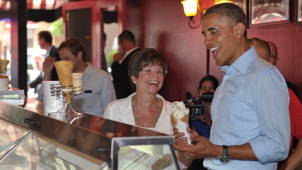 Mrs Jarrett, centre, was one of Mr Obama's longest-serving aides
