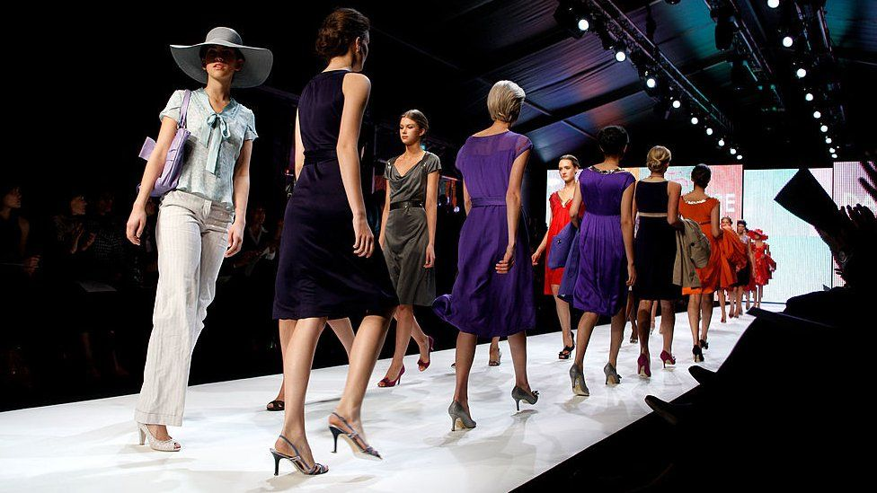 Models in a David Lawrence fashion show in Sydney in 2008
