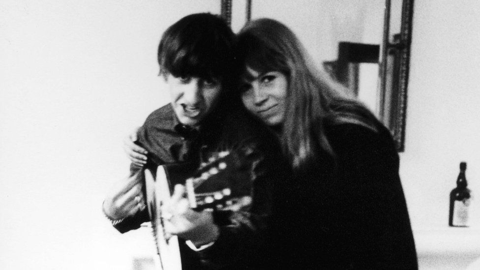 Image shows Astrid Kirchherr with Ringo Starr in 1964