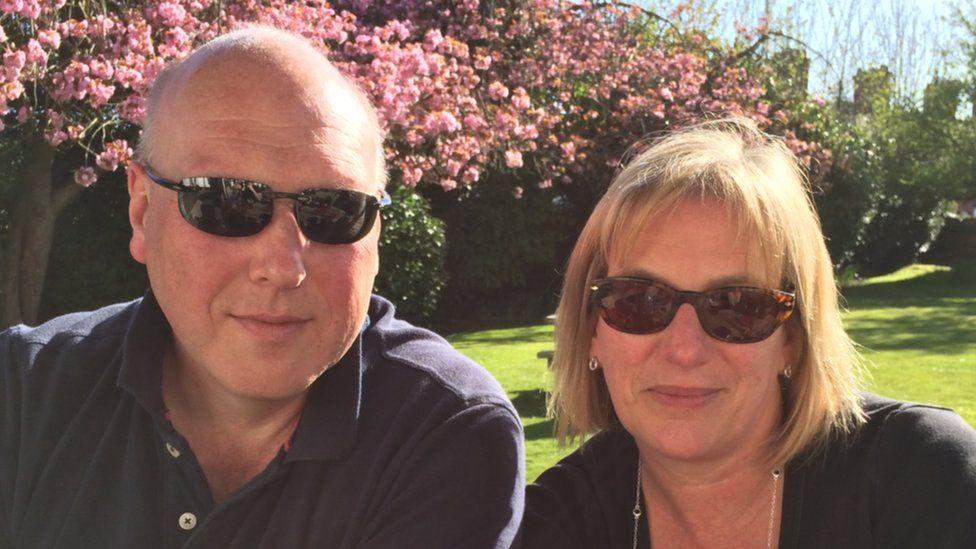 Sian Davies and her husband