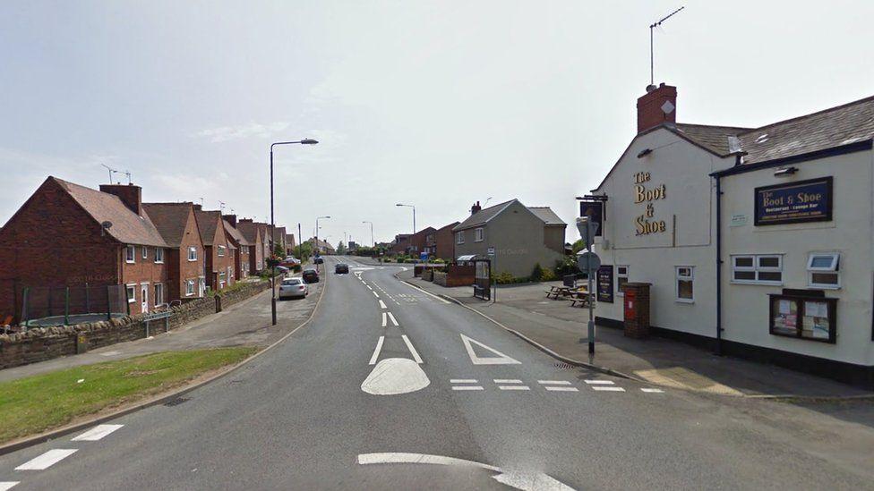 North Wingfield Road in Grassmoor, Chesterfield, Derbyshire