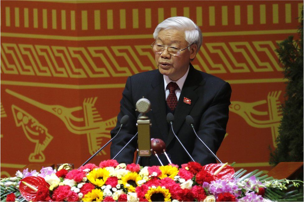 Nguyen Phu Trong, General Secretary of the Communist Party of Vietnam delivers a speech during the Opening ceremony of The 12th National Congress of Vietnam's Communist Party in Hanoi on 21 January 2016
