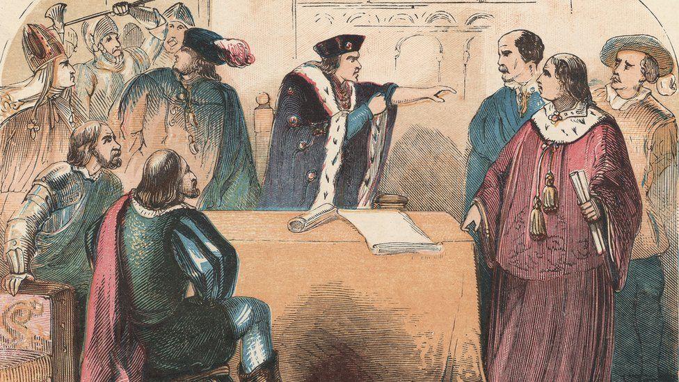 Richard III turns on Lord Hastings