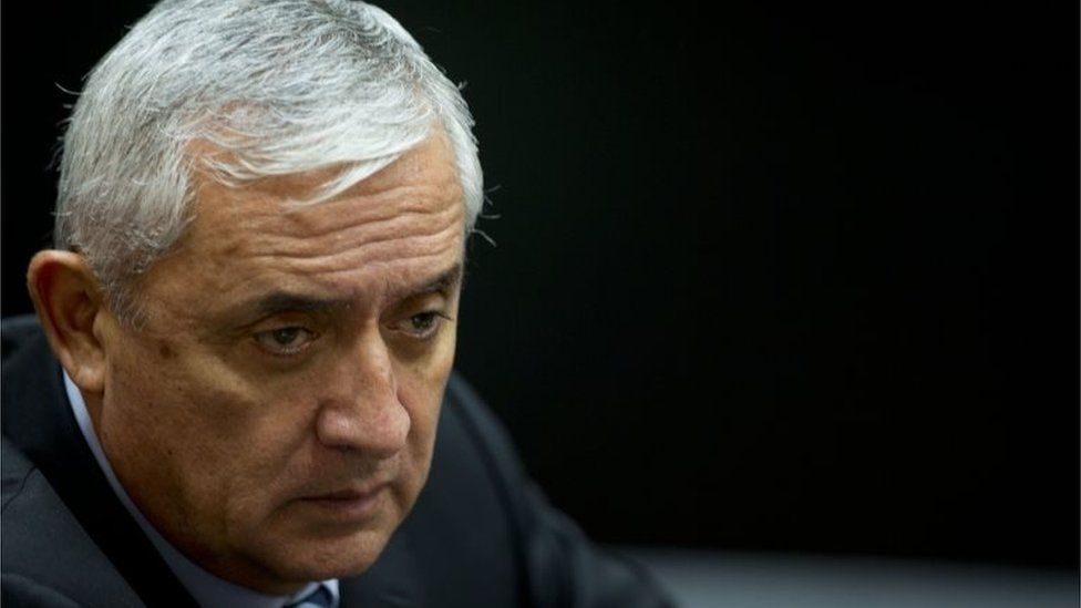 Otto Perez Molina attends a third hearing on corruption allegations that led him to resign in Guatemala City on 8 September, 2015.