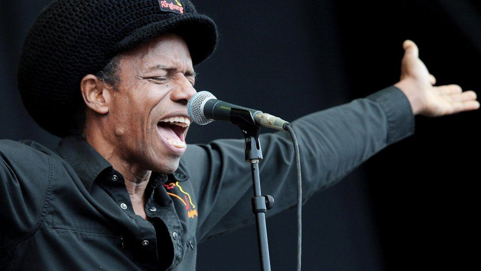 Eddy Grant performs on the main stage at the T in the Park music festival near Kinross, Scotland on 12 July 2008
