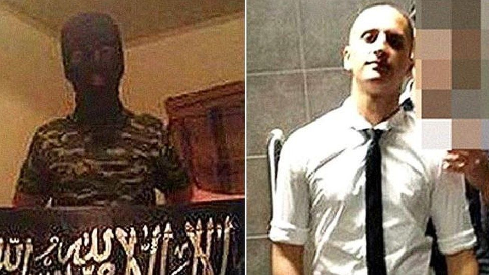 Prakash was linked to a knife attack on Australian police by Numan Haider, pictured