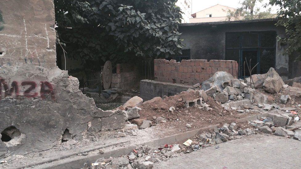 War damage in Cizre