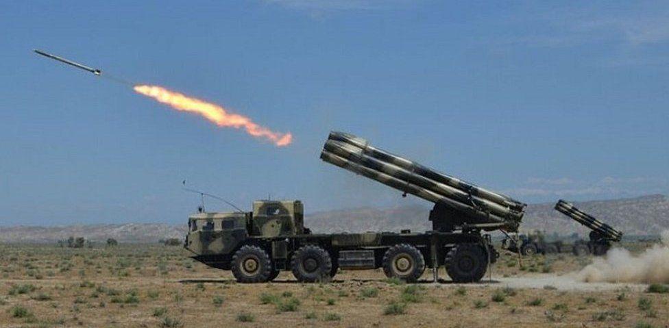 Azerbaijan artillery, file pic 29 May 2017