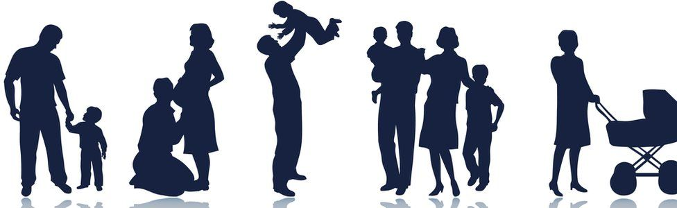 families in silhouette