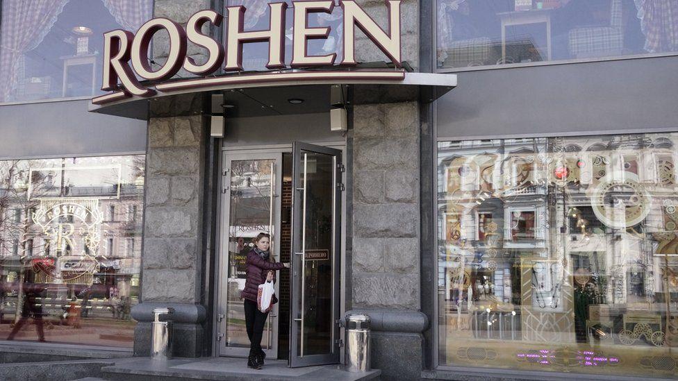 Roshen shop in Kiev (4 April)