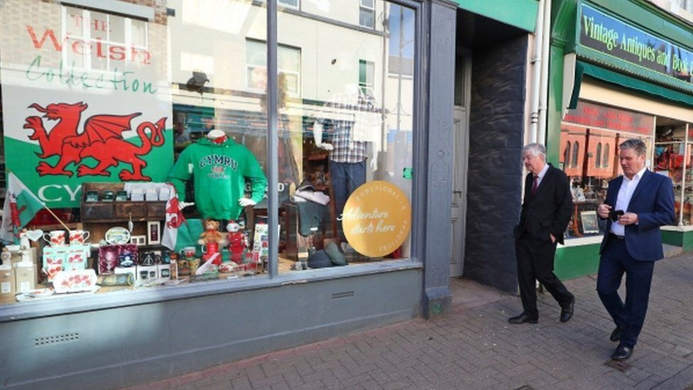 Keir Starmer was out on the campaign trail with Mark Drakeford in Llangollen last month