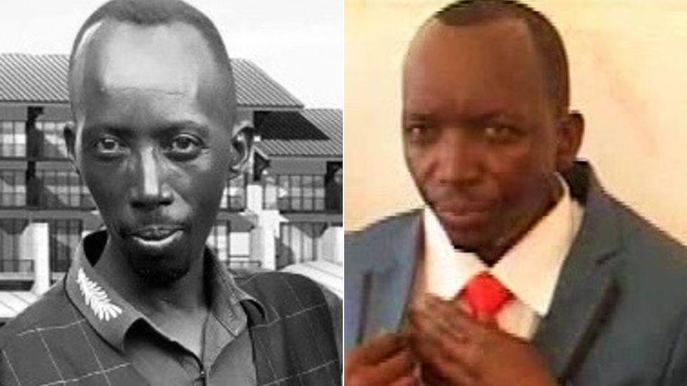 Jean Nsengimana (L) and Antoine Zihabamwe (R)